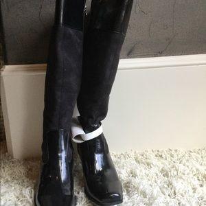 Etienne Aigner Shoes - Etienne Aigner Women's tall black suede boot